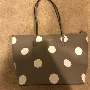 Adorable grey brand new Kate spade tote